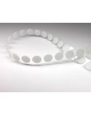 <b>1R1750 Rzep samoprzylepny biały kółeczka fi 13mm (1500 szt./rolka) pętelka</b>