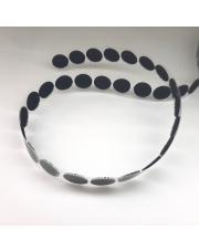 <b>1R1761 Rzep samoprzylepny czarny kółeczka fi 16mm (1250 szt./rolka) haczyk</b>