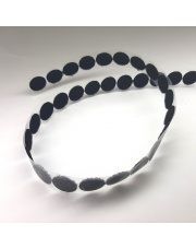 <b>1R1760 Rzep samoprzylepny czarny kółeczka fi 19mm (1050 szt./rolka) pętelka</b>