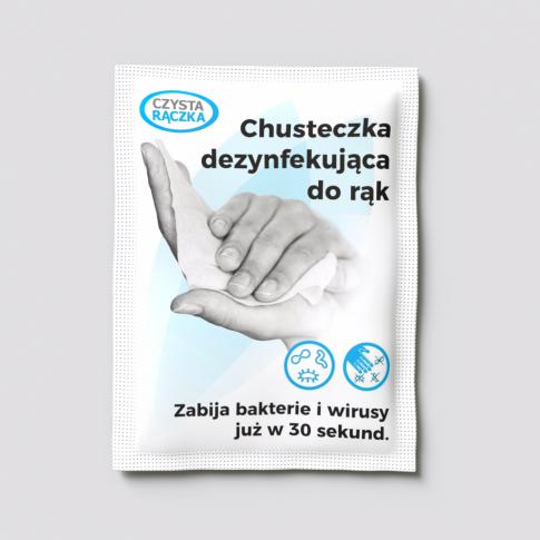 <b>CH17 CZYSTA RĄCZKA chusteczka dezynfekująca do rąk i powierzchni </b>